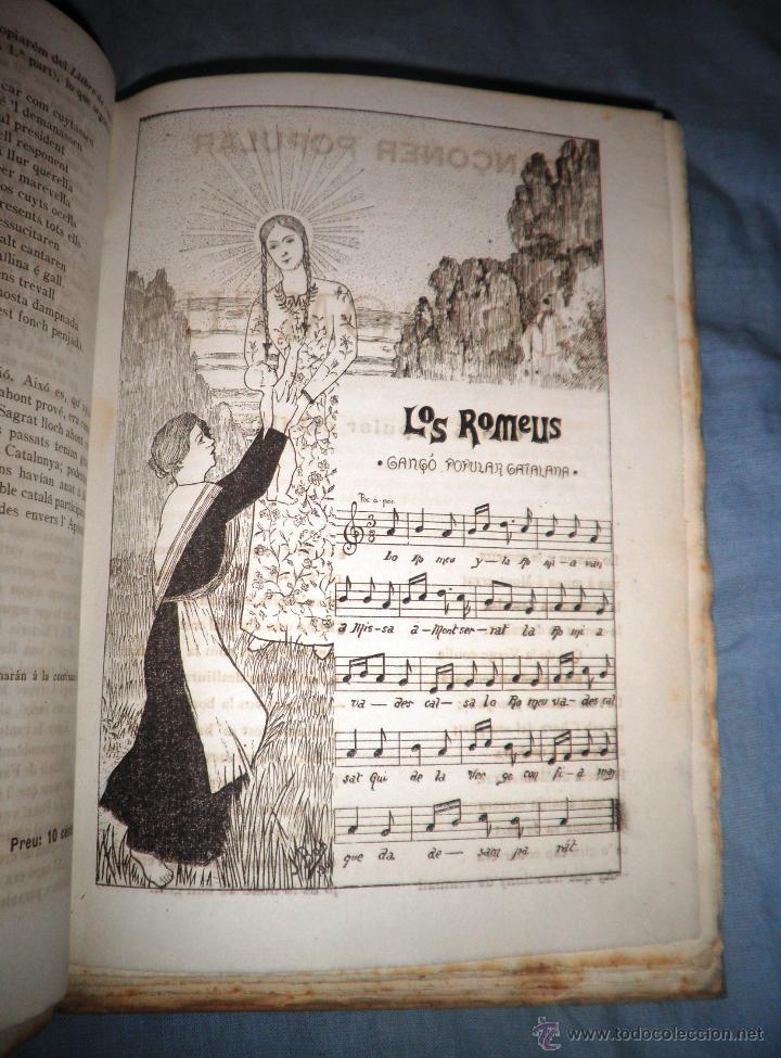 Libros antiguos: CANÇONER POPULAR - AÑO 1901 - A.CAPMANY - EDICION ORIGINAL ILUSTRADA. - Foto 11 - 50561706
