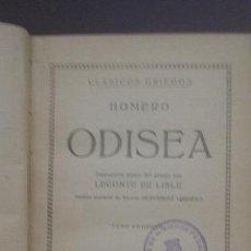 Libros antiguos: ODISEA TOMO II PROMETEO HOMERO LECONTE DE LISLE. Lote 50782077