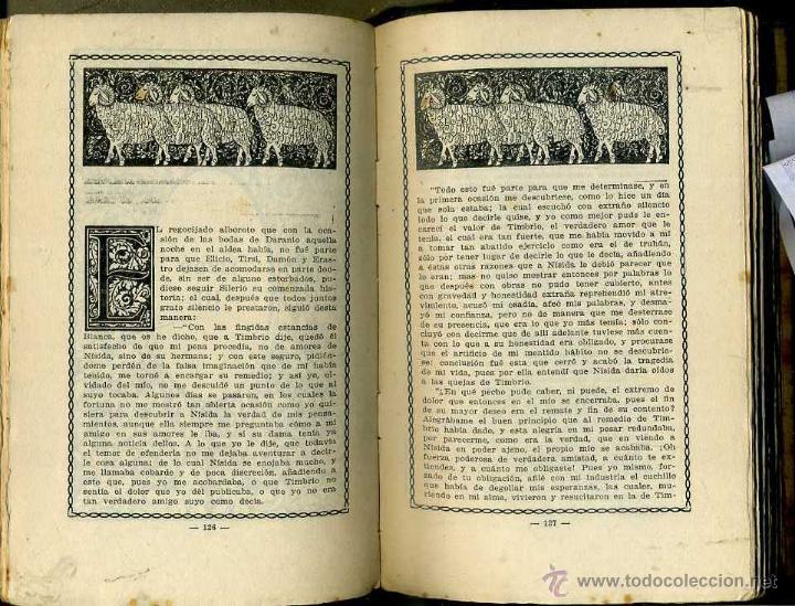 Libros antiguos: CERVANTES : LA GALATEA (DOMENECH, 1916) ILUSTRADO POR ALSINA MUNNÉ - Foto 2 - 56799327