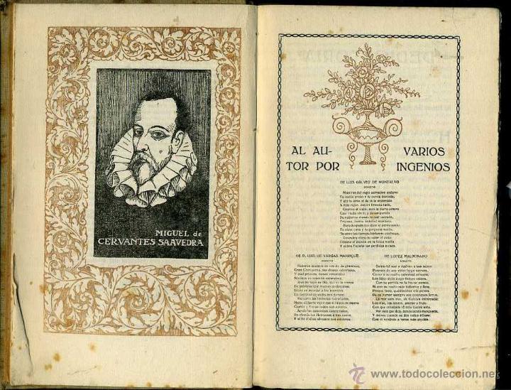 Libros antiguos: CERVANTES : LA GALATEA (DOMENECH, 1916) ILUSTRADO POR ALSINA MUNNÉ - Foto 3 - 56799327