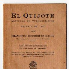 Libros antiguos: EL QUIJOTE. FRANCISCO RODRIGUEZ MARÍN. ED. ATLAS. ORIGINAL. Lote 52161287