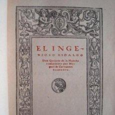 Libros antiguos: DON QUIJOTE DE LA MANCHA, CERVANTES, 1900 CALLEJA. Lote 52428594