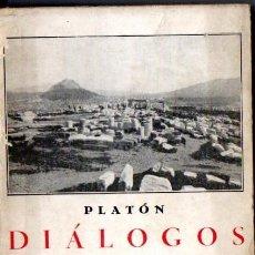 Libros antiguos: PLATÓN : DIÁLOGOS III (BERGUA, 1934). Lote 52954444