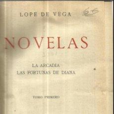 Libros antiguos: LA ARCADIA. LAS FORTUNAS DE DIANA. LOPE DE VEGA. LIBRERÍA DE BERGUA. MADRID. Lote 52979075
