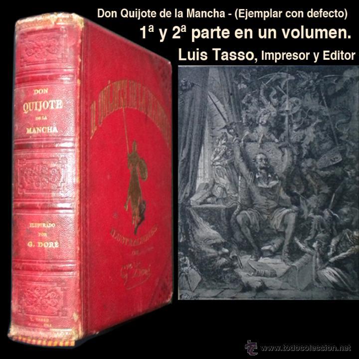PCBROS - DON QUIJOTE DE LA MANCHA - M. DE CERVANTES S. - LUIS TASSO IMPRESOR Y EDITOR (Libros antiguos (hasta 1936), raros y curiosos - Literatura - Narrativa - Clásicos)