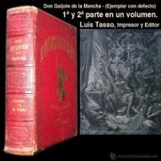 Libros antiguos: PCBROS - DON QUIJOTE DE LA MANCHA - M. DE CERVANTES S. - LUIS TASSO IMPRESOR Y EDITOR. Lote 53051674