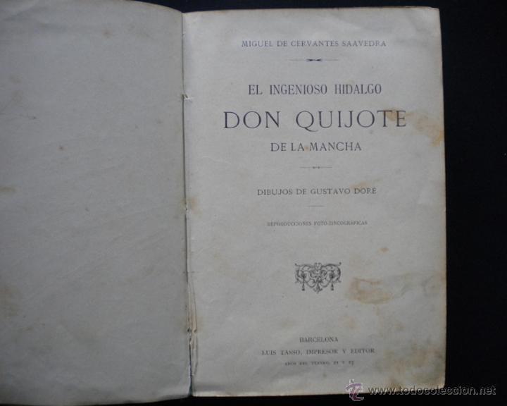 Libros antiguos: PCBROS - DON QUIJOTE DE LA MANCHA - M. DE CERVANTES S. - LUIS TASSO IMPRESOR Y EDITOR - Foto 3 - 53051674