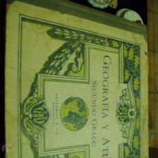Libros antiguos: GEOGRAFIA Y ATLAS DE 2º GRADO EDITORIAL F.T.D. Lote 49951759