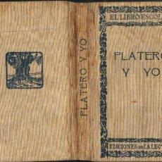 Libros antiguos: PLATERO Y YO. ELEGÍA ANDALUZA. JUAN RAMÓN JIMÉNEZ. 1ª EDICIÓN ( ILEGAL SEGÚN J.R.J. ).. Lote 173623639