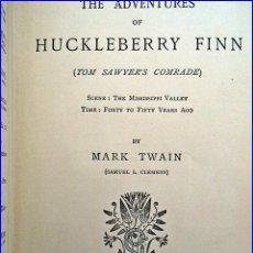 Libros antiguos: AÑO 1889. ADVENTURES OF HUCKLEBERRY FINN. MARK TWAIN.. Lote 53546431