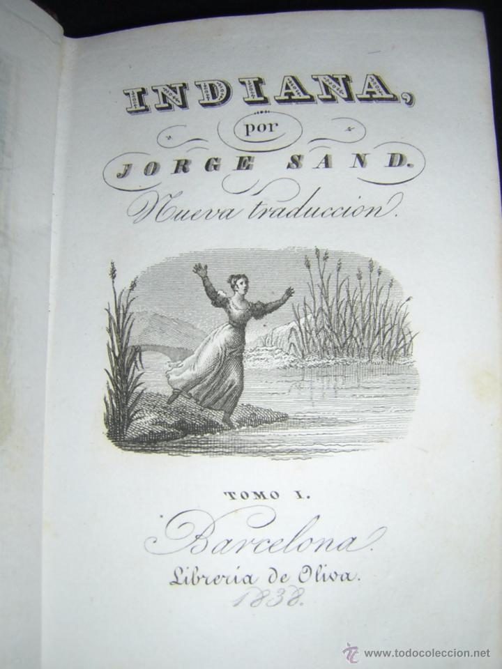 Libros antiguos: 1838 - GEORGE SAND - INDIANA - Foto 3 - 53706152