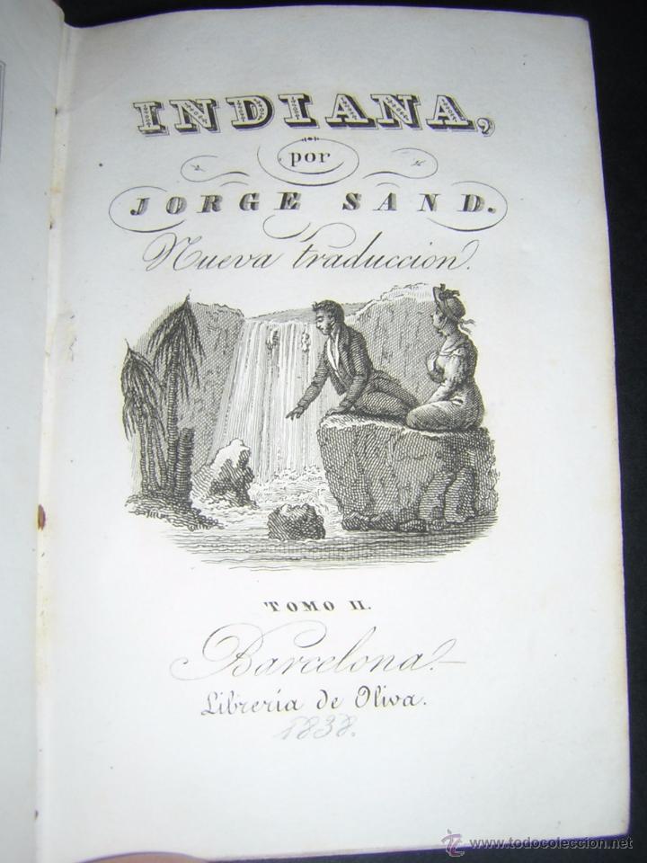 Libros antiguos: 1838 - GEORGE SAND - INDIANA - Foto 7 - 53706152