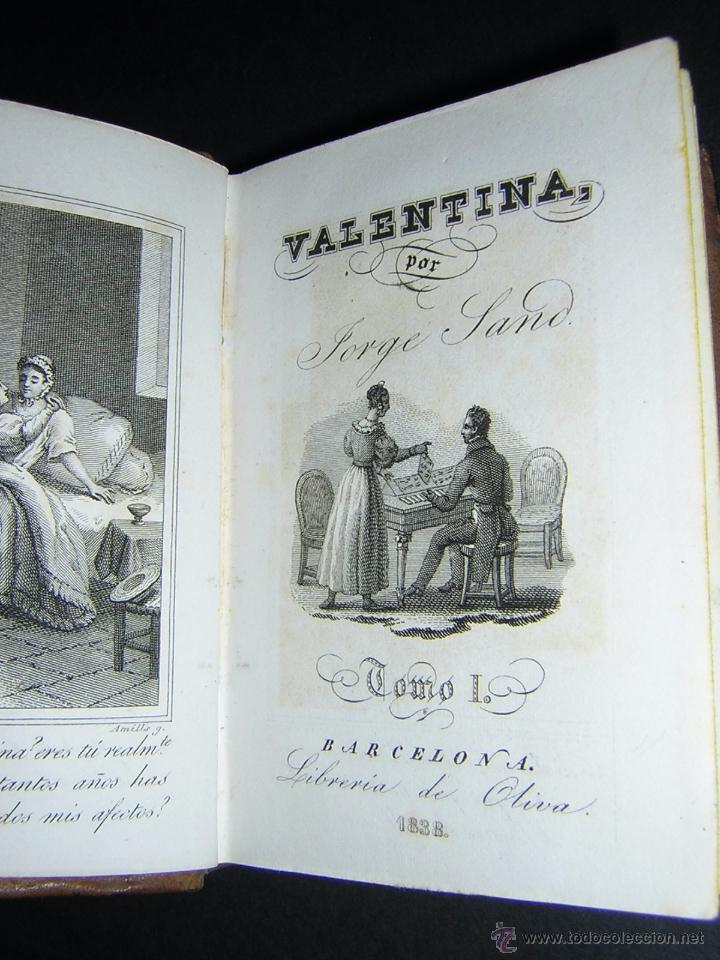 Libros antiguos: 1838 - JORGE SAND - VALENTINA - Foto 2 - 53841760