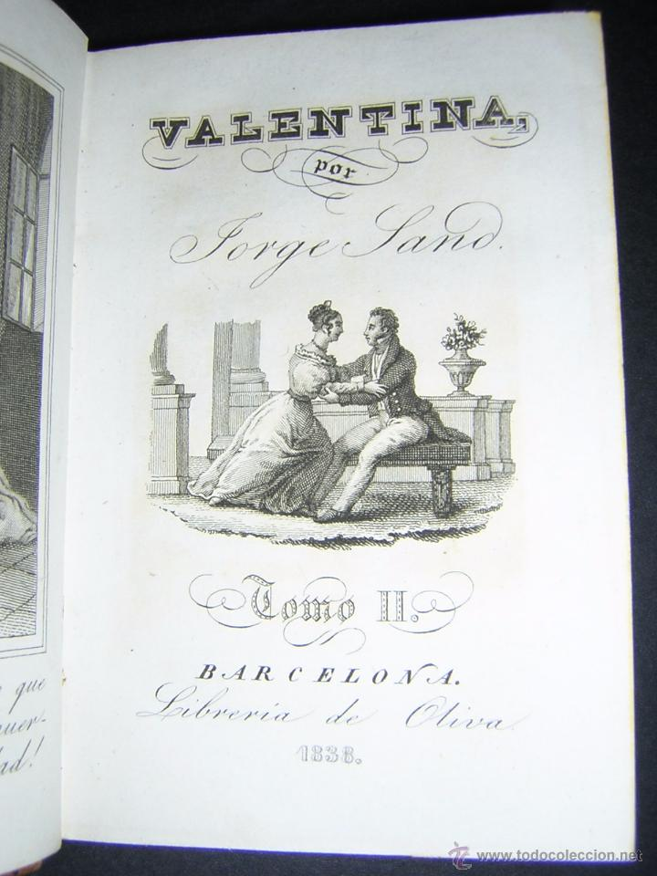 Libros antiguos: 1838 - JORGE SAND - VALENTINA - Foto 4 - 53841760