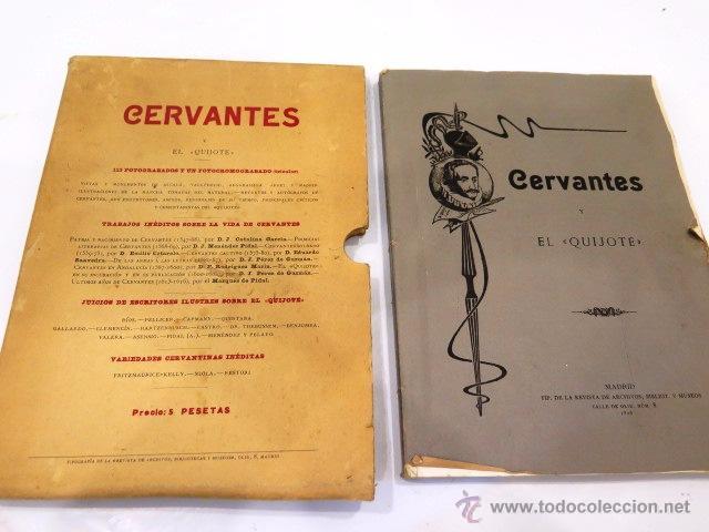 CERVANTES Y EL QUIJOTE. TIPOGRAFÍA DE LA REVISTA DE ARCHIVOS, BIBLIOT. Y MUSEOS. AÑO 1905 (Libros antiguos (hasta 1936), raros y curiosos - Literatura - Narrativa - Clásicos)