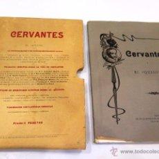 Libros antiguos: CERVANTES Y EL QUIJOTE. TIPOGRAFÍA DE LA REVISTA DE ARCHIVOS, BIBLIOT. Y MUSEOS. AÑO 1905. Lote 54116366