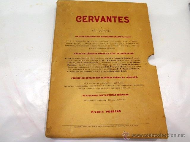 Libros antiguos: Cervantes y El Quijote. Tipografía de la revista de archivos, bibliot. y museos. Año 1905 - Foto 2 - 54116366