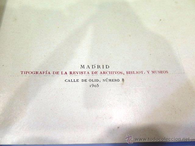 Libros antiguos: Cervantes y El Quijote. Tipografía de la revista de archivos, bibliot. y museos. Año 1905 - Foto 5 - 54116366