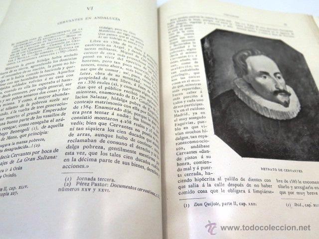 Libros antiguos: Cervantes y El Quijote. Tipografía de la revista de archivos, bibliot. y museos. Año 1905 - Foto 7 - 54116366