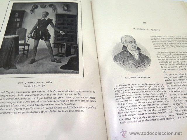 Libros antiguos: Cervantes y El Quijote. Tipografía de la revista de archivos, bibliot. y museos. Año 1905 - Foto 8 - 54116366