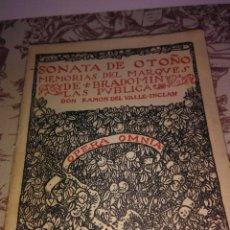 Libros antiguos: LA SONATA DE OTOÑO. Lote 54737890