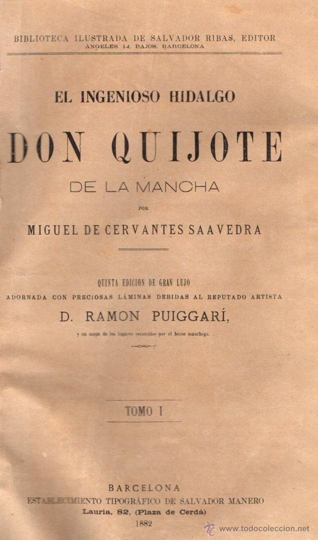 Libros antiguos: CERVANTES : DON QUIJOTE DE LA MANCHA (MANERO, 1882) - Foto 3 - 54764451