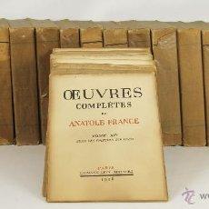 Libros antiguos: 6999 - OEUVRES COMPLÈTES DE ANATOLE FRANCE,17 VOL.(VER DESCRIP). EDI. CALMANN-LÉVY. 1925-29.. Lote 52367390