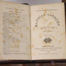 Libros antiguos: 6843 - MATHIAS SANDORF. 3 VOLUM. (VER DESCRIP). JULES VERNE. EDIT. J. H. S/F.. Lote 50586875