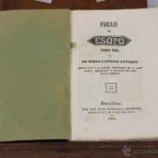 Libros antiguos: 6356 - FÁBULAS DE ESOPO. IMP. JUAN FRANCISCO PIFERRER. 1845.. Lote 49527428