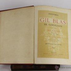 Libros antiguos: D-535. HISTORIA DE GIL BLAS DE SANTILLANA. LESAGE. EDIT. ESPASA. 2 VOL SIN FECHA.. Lote 47799412