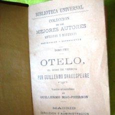 Libros antiguos: OTELO _W. SHAKESPEARE_ (1886). Lote 55866935