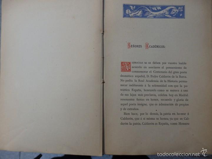 Libros antiguos: Memoria acerca de El Mágico Prodigioso de Calderón........1881, 212 PAGINAS - Foto 2 - 55912495
