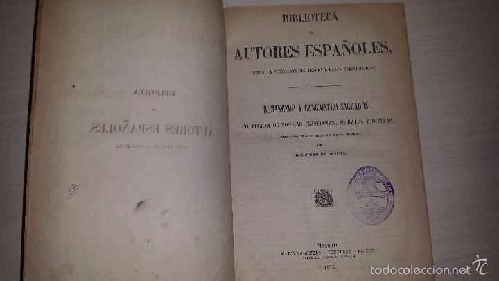 ROMANCERO Y CANCIONERO SAGRADOS.COLECCION DE POESÍAS CRISTIANAS, MORALES Y DIVINAS.(1872) DE SANCHA (Libros antiguos (hasta 1936), raros y curiosos - Literatura - Narrativa - Clásicos)