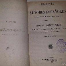 Libros antiguos: ROMANCERO Y CANCIONERO SAGRADOS.COLECCION DE POESÍAS CRISTIANAS, MORALES Y DIVINAS.(1872) DE SANCHA. Lote 56218947