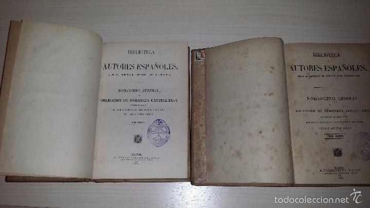COLECCION DE ROMANCES CASTELLANOS ANTERIORES AL SIGLO XVIII TOMOS I Y II(1877) AGUSTÍN DURÁN (Libros antiguos (hasta 1936), raros y curiosos - Literatura - Narrativa - Clásicos)