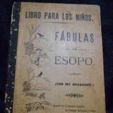 Libros antiguos: FÁBULAS DE ESOPO. DEPÓSITO DE LA SOCIEDAD ESPAÑOLA DE TRATADOS RELIGIOSOS Y LIBROS. FIGUERAS, 1912. Lote 56243696