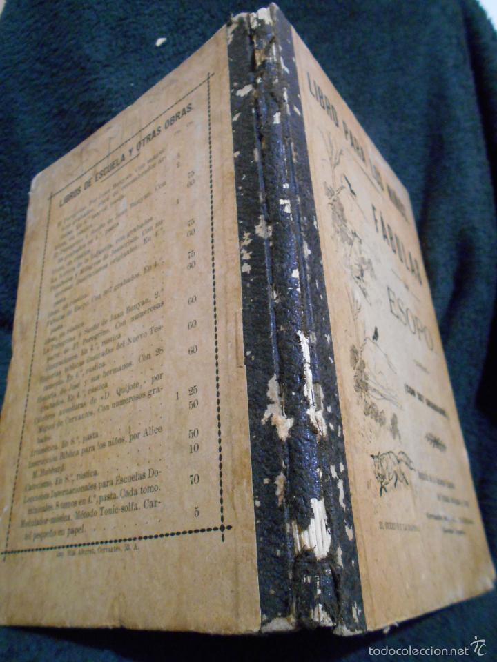 Libros antiguos: Fábulas de Esopo. Depósito de la Sociedad Española de Tratados Religiosos y Libros. Figueras, 1912 - Foto 3 - 56243696