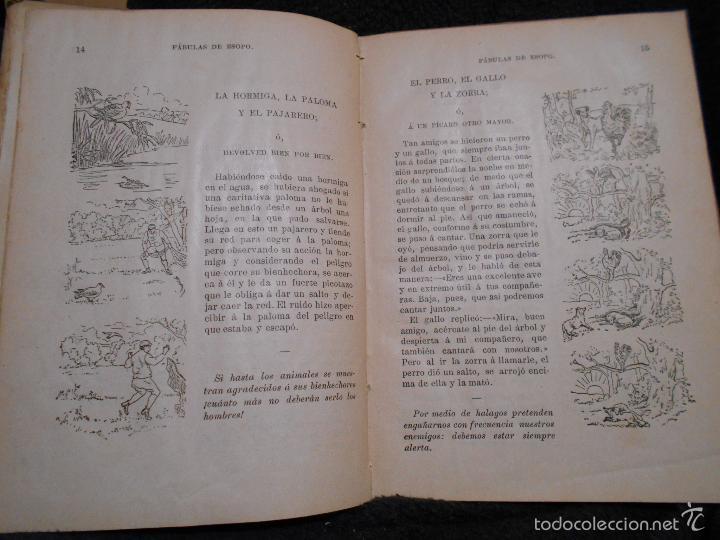 Libros antiguos: Fábulas de Esopo. Depósito de la Sociedad Española de Tratados Religiosos y Libros. Figueras, 1912 - Foto 5 - 56243696