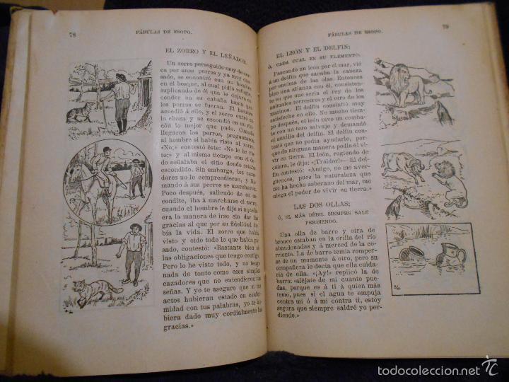 Libros antiguos: Fábulas de Esopo. Depósito de la Sociedad Española de Tratados Religiosos y Libros. Figueras, 1912 - Foto 6 - 56243696