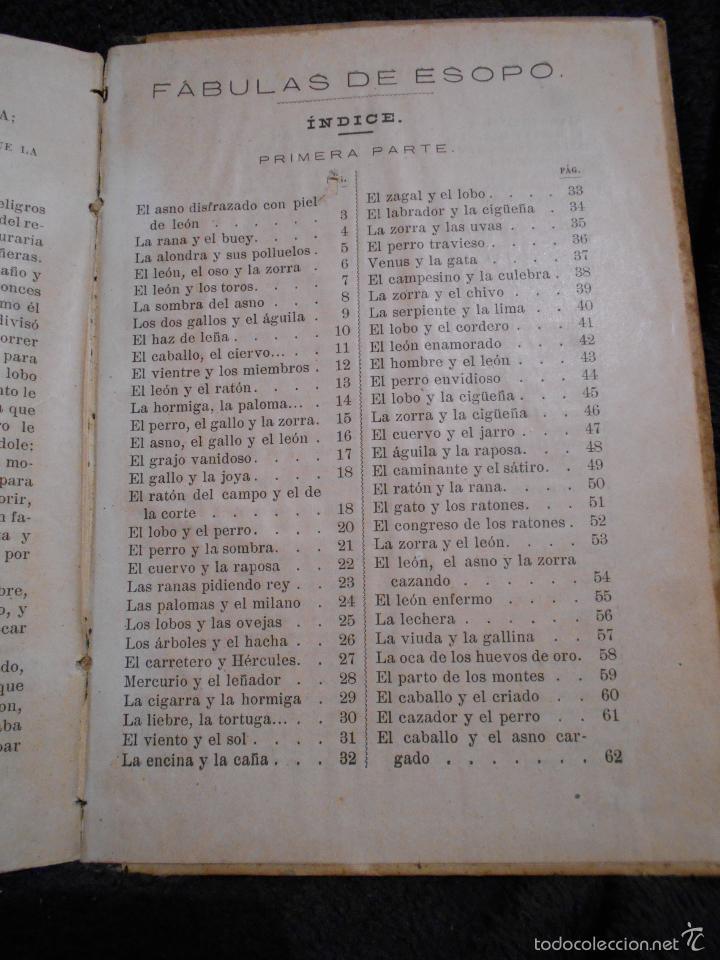 Libros antiguos: Fábulas de Esopo. Depósito de la Sociedad Española de Tratados Religiosos y Libros. Figueras, 1912 - Foto 7 - 56243696