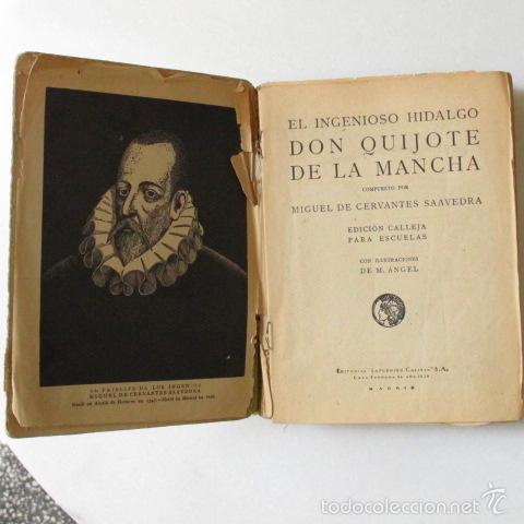 Libros antiguos: don QUIJOTE de la mancha SATURNINO CALLEJA LIBRO ANTIGUO CERVANTES - Foto 2 - 56893116