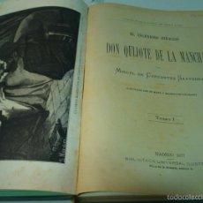 Libros antiguos: TOMO I DON QUIJOTE M.CERVANTES MADRID BIBLIOTECA UNIVERSAL 1877. Lote 57016552