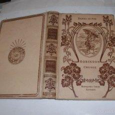 Libros antiguos: DANIEL DE FOE - ROBINSON CRUSOE - . Lote 57223011