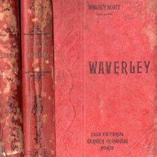 Libros antiguos: WALTER SCOTT : WAVERLEY - DOS TOMOS (GARNIER, PARIS, C. 1910). Lote 57344433