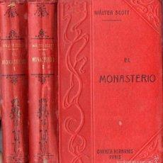 Old books - WALTER SCOTT : EL MONASTERIO - DOS TOMOS (GARNIER, PARIS, c. 1910) - 57344484