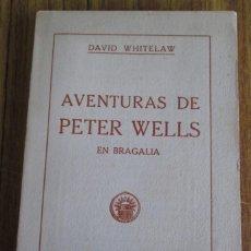 Libros antiguos: AVENTURAS DE PETER WELLS - EN BRAGALIA - POR DAVID WHITELAW 1914. Lote 57536150
