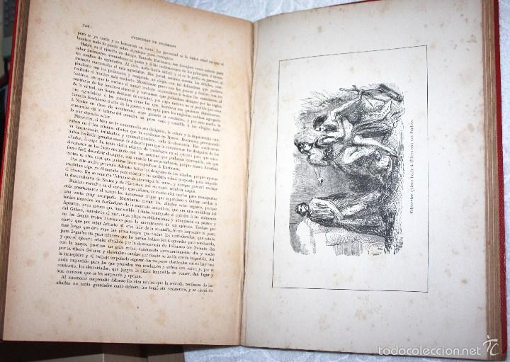 Libros antiguos: LAS AVENTURAS DE TELÉMACO, HIJO DE HULISES 1909. PRECISA RESTAURACIÓN. - Foto 4 - 57687239