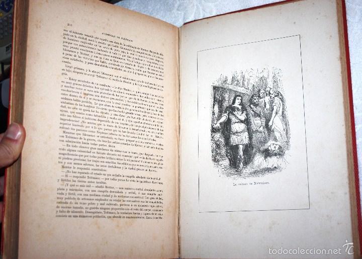 Libros antiguos: LAS AVENTURAS DE TELÉMACO, HIJO DE HULISES 1909. PRECISA RESTAURACIÓN. - Foto 5 - 57687239