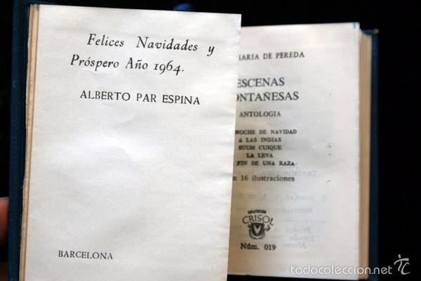ESCENAS MONTAÑESAS - AGUILAR - CRISOL SERIE EXTRA - 019 - JOSÉ MARÍA DE PEREDA (Libros antiguos (hasta 1936), raros y curiosos - Literatura - Narrativa - Clásicos)