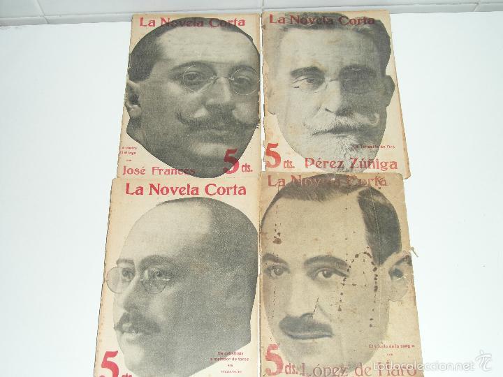 LA NOVELA CORTA JOSE FRANCES - PEREZ ZUÑIGA - LOPEZ DE HARO - IGLESIAS HERMIDA 1916/7 (Libros antiguos (hasta 1936), raros y curiosos - Literatura - Narrativa - Clásicos)